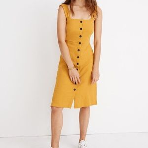 NWT Madewell textured button front dress size L